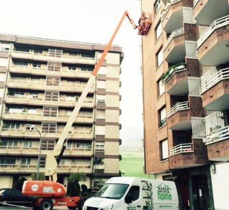 Aislamiento de bloque de pisos en Azpeitia (Gipuzkoa)