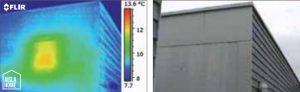 Detección falta de aislamiento mediante termografia