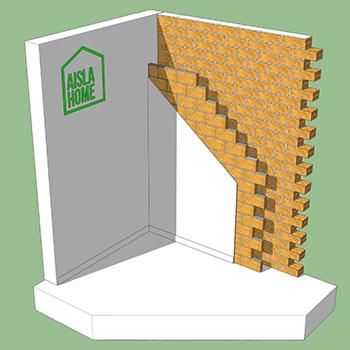 fachada con cámara de aire sin aislamiento