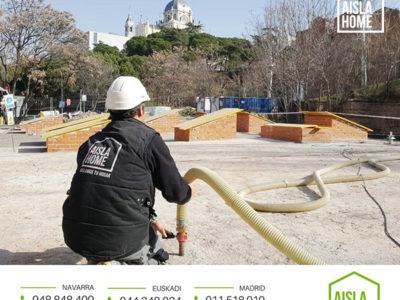 Aislamiento edificio parroquial Madrid